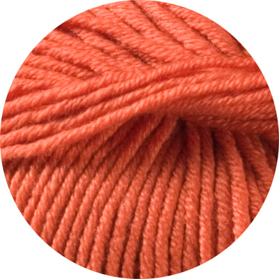 100% Extra Fine Merino Wool - vivid orange 50g