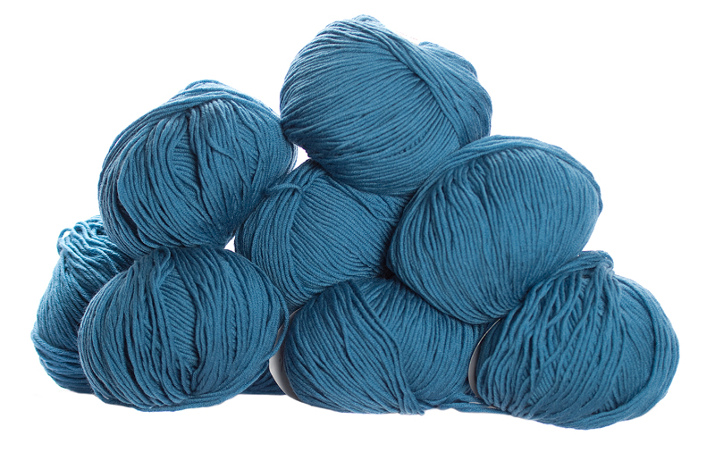 100% Extra Fine Merino Wool - French blue 50g - Click Image to Close