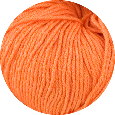100% Extra Fine Merino Wool - fresh apricot 50g - Click Image to Close