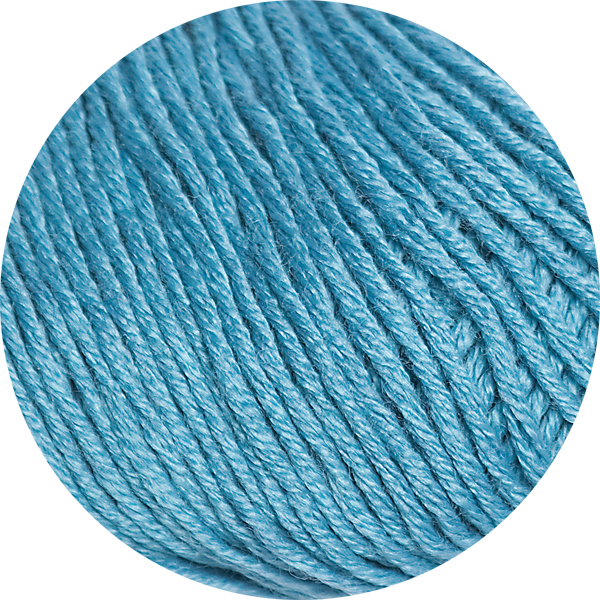 100% Extra Fine Merino Wool - peacock blue 50g - Click Image to Close
