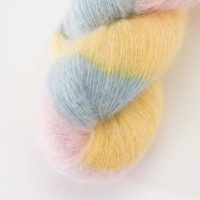 50% Superfine Kid Mohair - battenburg 100g