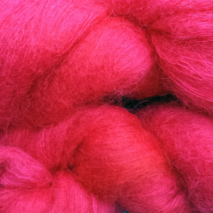 60% Superfine Kid Mohair - magenta 100g