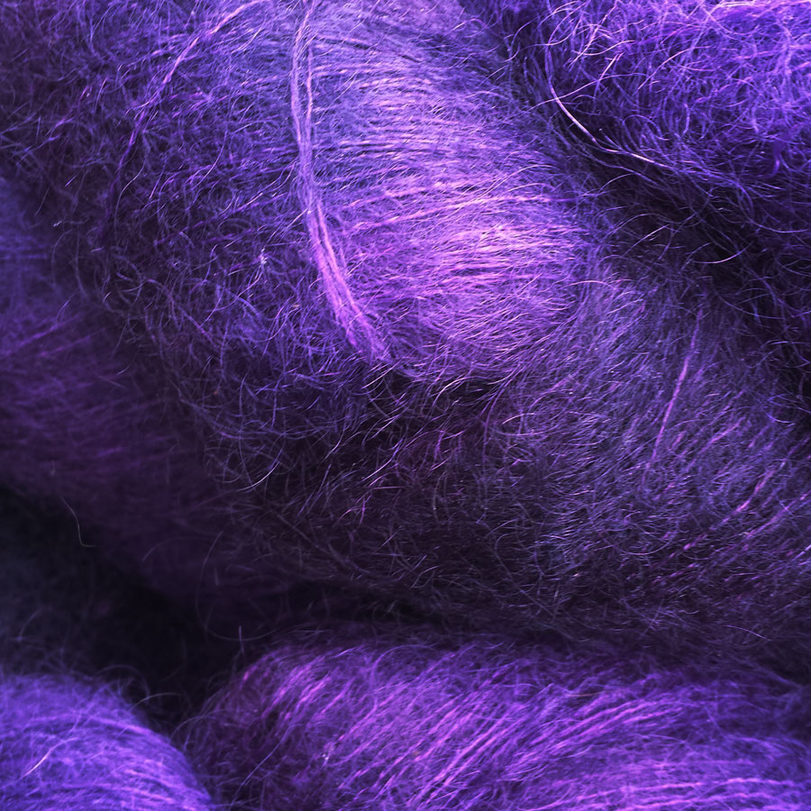 60% Superfine Kid Mohair - royal purple 100g