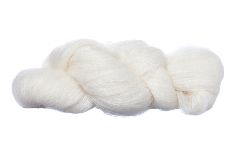 60% Superfine Kid Mohair - undyed 100g